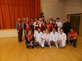 L'équipe de l'EFS et les bénévoles
